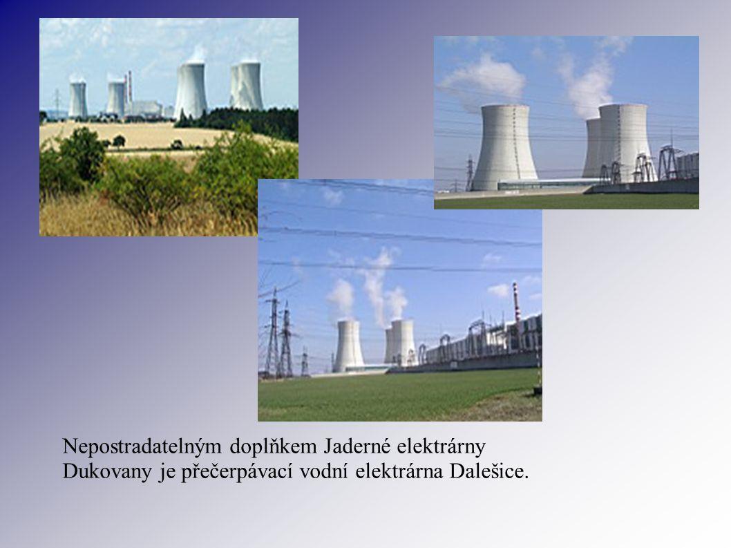 Nepostradatelným doplňkem Jaderné elektrárny Dukovany je přečerpávací vodní elektrárna Dalešice.