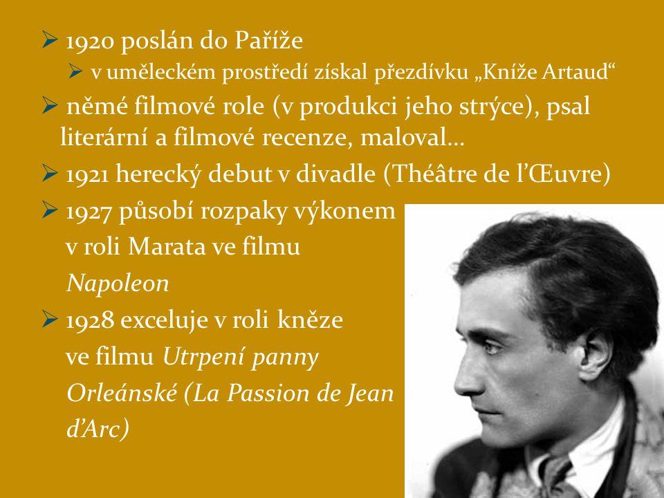 Artaudova citace z programu k jedné z inscenací Divadla A.