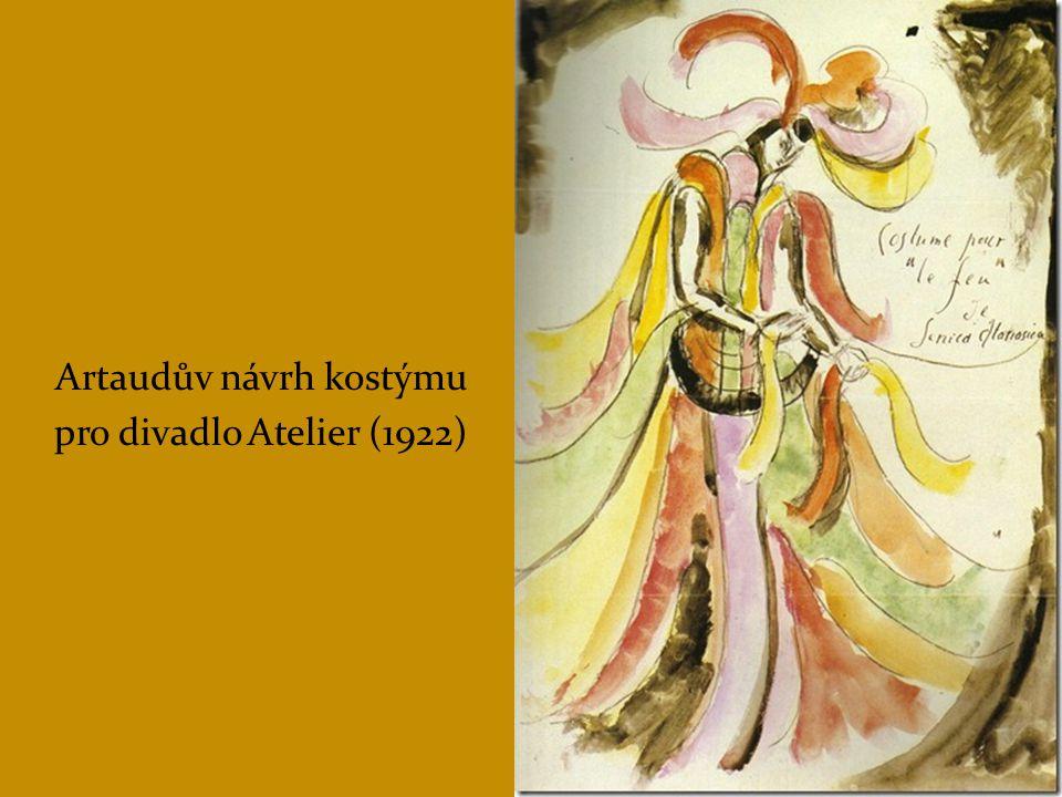"""1932 – vzniká Artaudova teorie divadla krutosti: Manifest divadla krutosti  """"Nejde o sadistickou krutost, ale o kosmickou pozici člověka, který byl na svět vyvržen bez své vůle s jedinou jistotou – jistotou neodvratné smrti."""