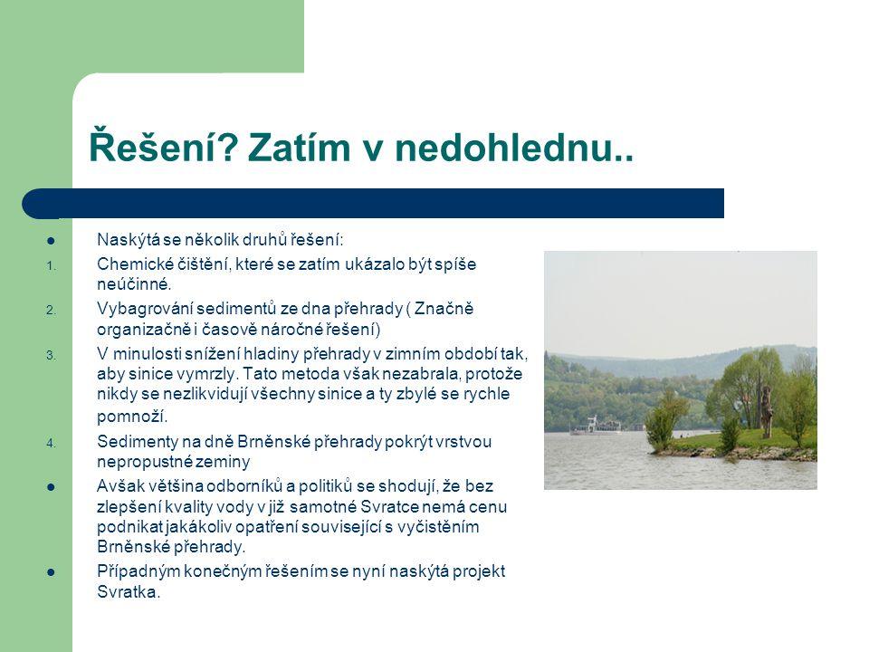 Projekt čistá Svratka Tento projekt se zaměřil na vyřešení dlouhotrvající špatné kvality vody v přehradní nádrži Brno vlivem přemnožených sinic Má své počátky již v roce 2002, kdy byl v Praze pořádán Evropskou komisí seminář zaměřený na vztah mezi Rámcovou směrnicí o vodní politice EU a programy ISPA v tzv.