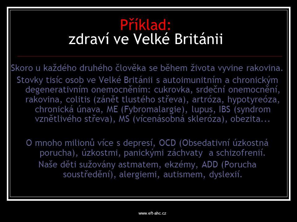 www.eft-ahc.cz Příklad: zdraví ve Velké Británii Skoro u každého druhého člověka se během života vyvine rakovina.