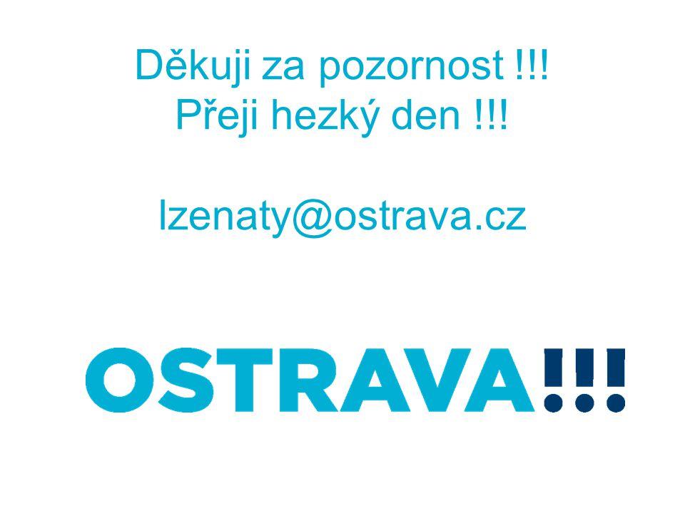 Děkuji za pozornost !!! Přeji hezký den !!! lzenaty@ostrava.cz