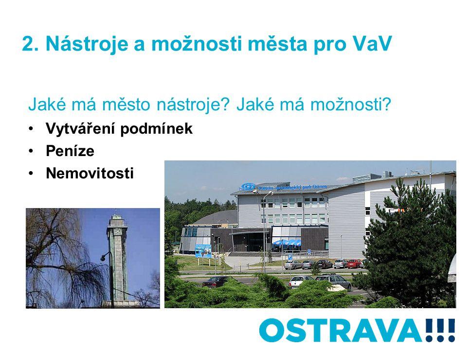 2. Nástroje a možnosti města pro VaV Jaké má město nástroje.