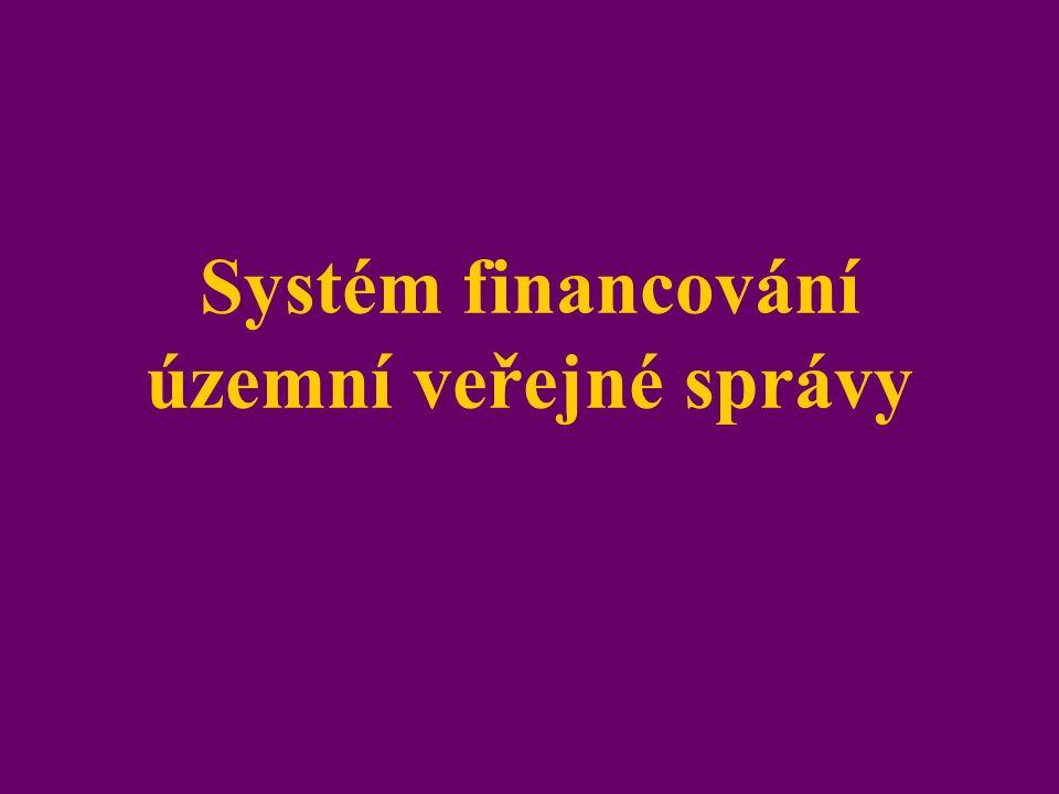Systém financování územní veřejné správy