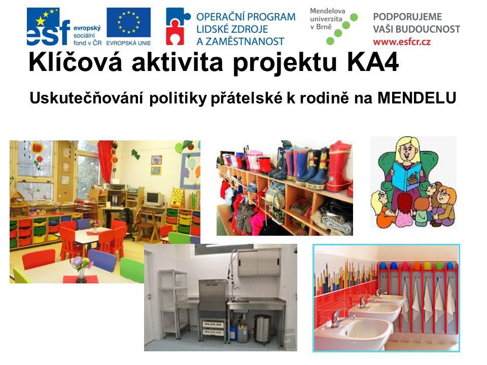 Klíčová aktivita projektu KA4 Uskutečňování politiky přátelské k rodině na MENDELU