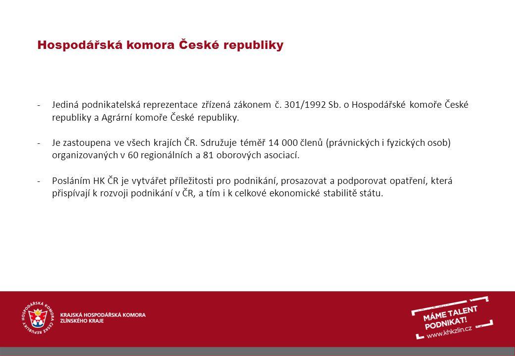 Krajská hospodářská komora Zlínského kraje -Vznikla sloučením tří okresních hospodářských komor v Uherském Hradišti, Vsetíně a Zlíně k 1.