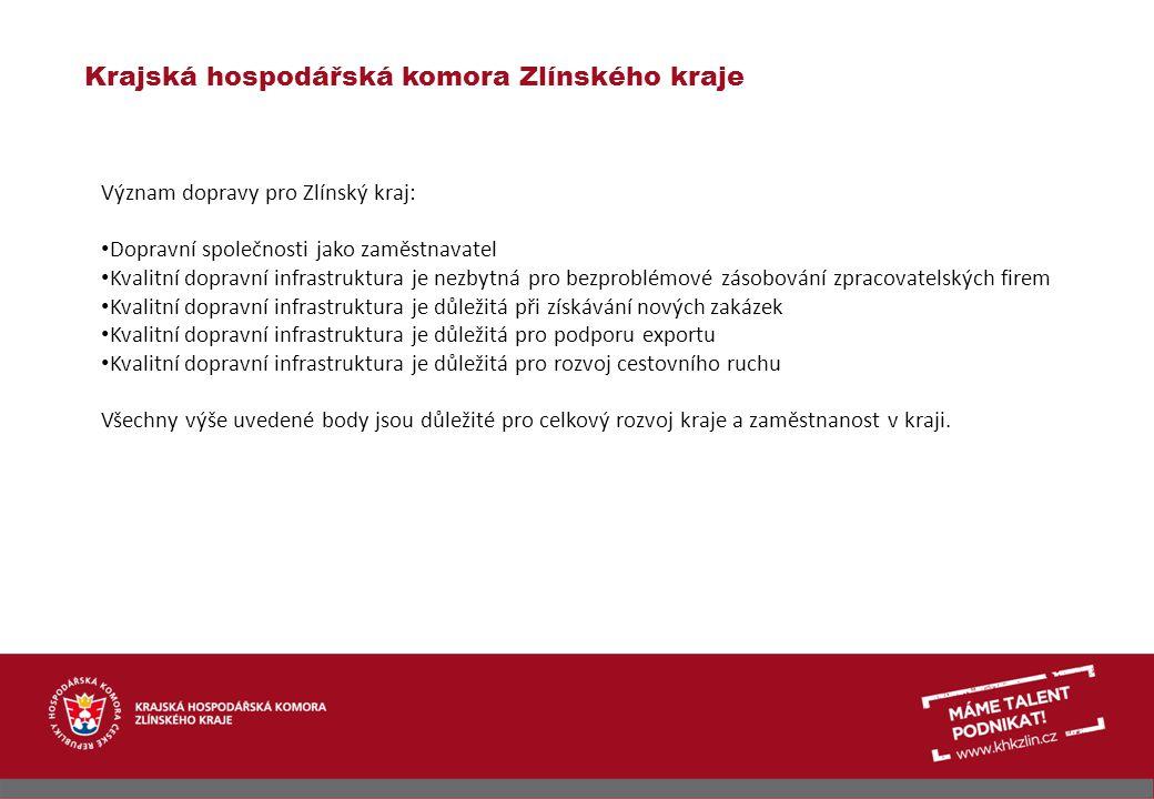 Krajská hospodářská komora Zlínského kraje Pohled podnikatelů v dopravě na některé problémy v dopravě obecně Zákon o veřejných zakázkách, který paradoxně brání tomu, k čemu je určen – vysoutěžení nejlepší nabídky (např.