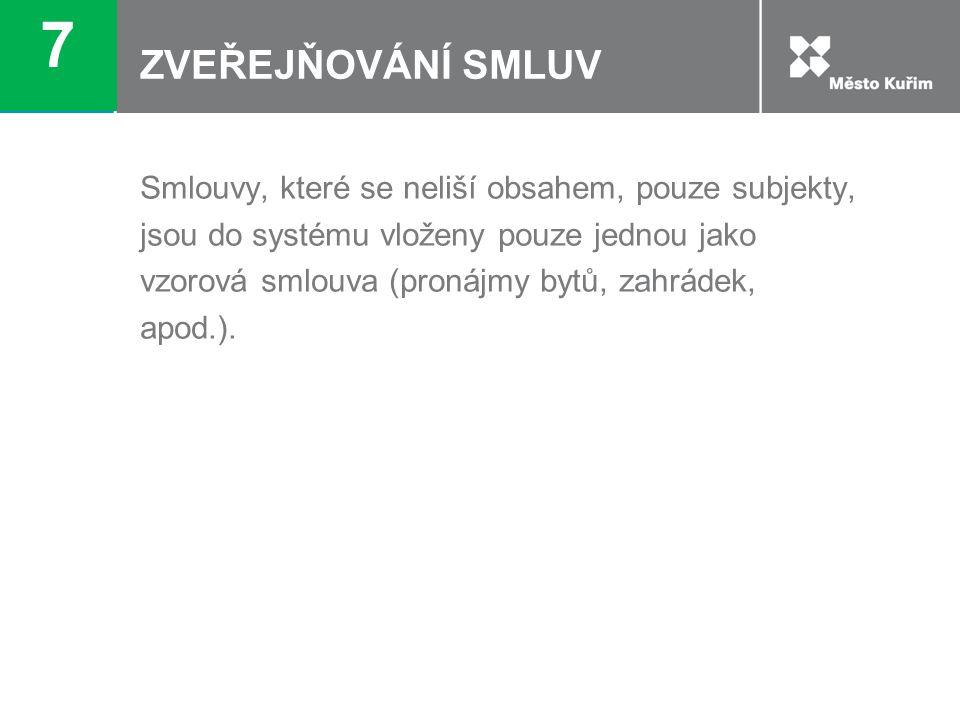 ZVEŘEJŇOVÁNÍ SMLUV 8