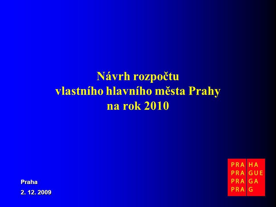 Návrh rozpočtu vlastního hlavního města Prahy na rok 2010 Praha 2. 12. 2009