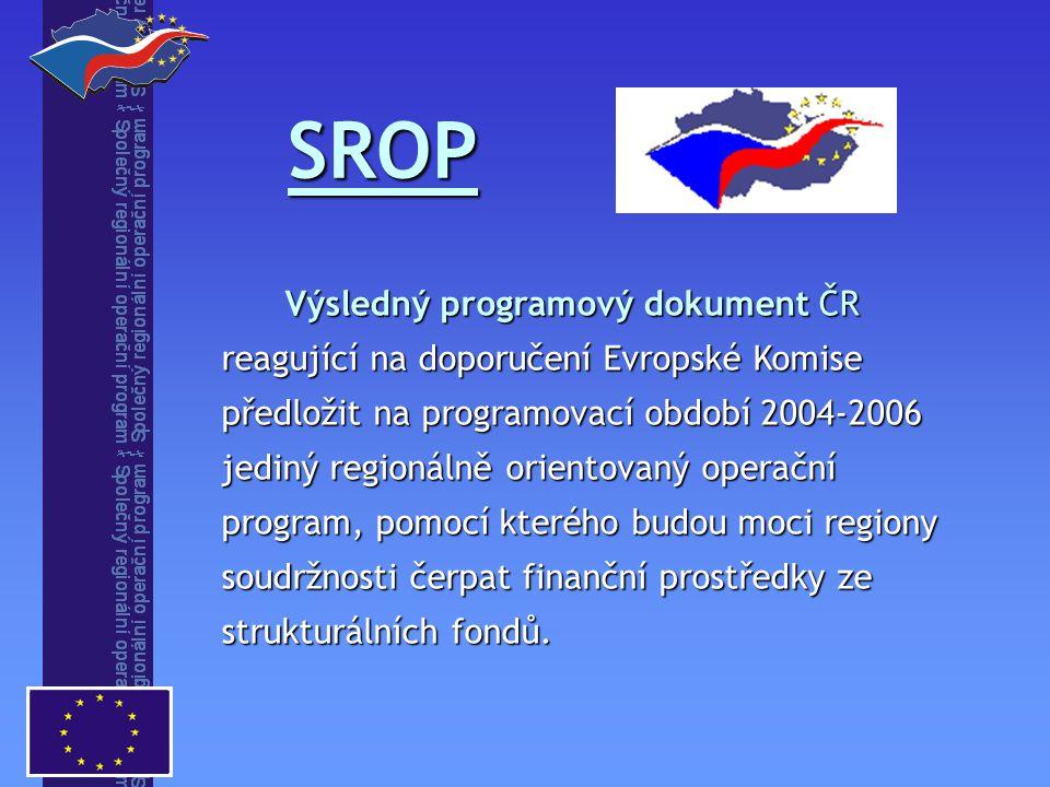 Výsledný programový dokument ČR reagující na doporučení Evropské Komise předložit na programovací období 2004-2006 jediný regionálně orientovaný operační program, pomocí kterého budou moci regiony soudržnosti čerpat finanční prostředky ze strukturálních fondů.