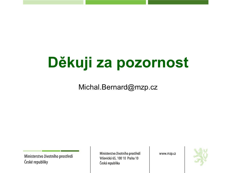 Děkuji za pozornost Michal.Bernard@mzp.cz