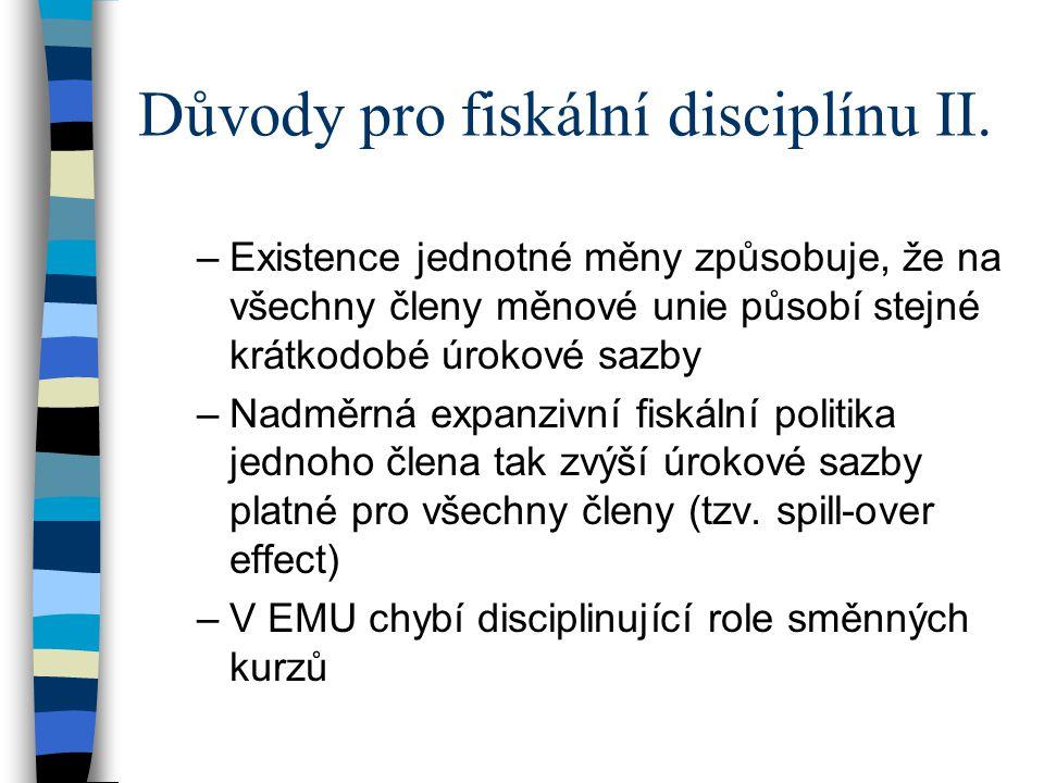 Důvody pro fiskální disciplínu II.