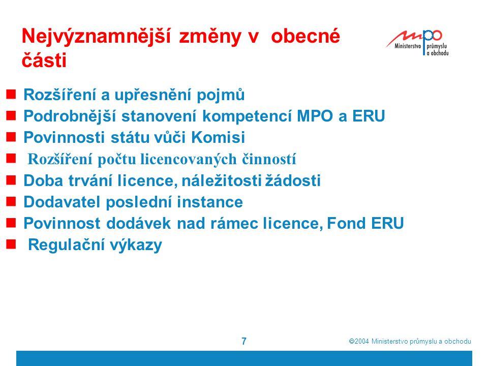  2004  Ministerstvo průmyslu a obchodu 28 Oprávnění zákazníci nevyužili plně všech práv, které jim dává tuzemská legislativa – III.