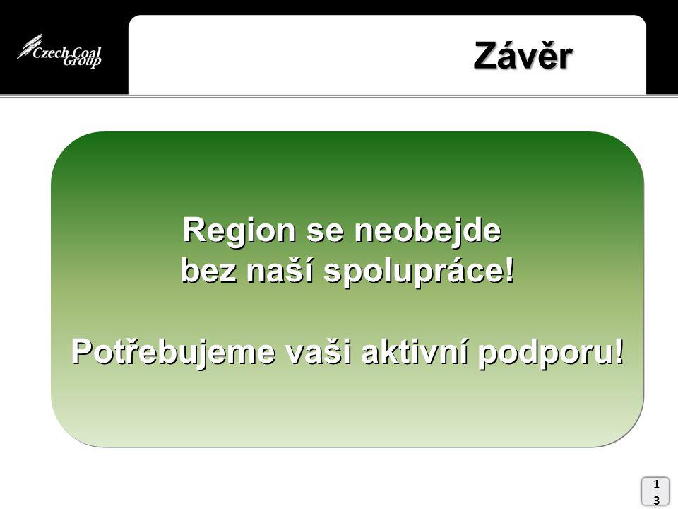 Závěr Závěr 13 Region se neobejde bez naší spolupráce.