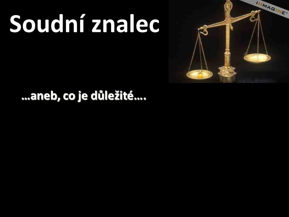 Soudní znalec …aneb, co je důležité….