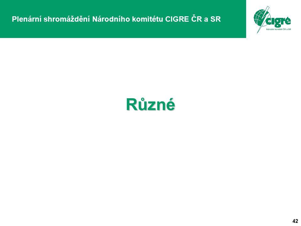 42 Plenární shromáždění Národního komitétu CIGRE ČR a SRRůzné