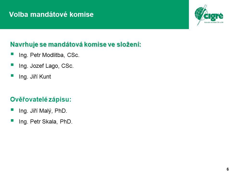 6 Navrhuje se mandátová komise ve složení:   Ing.