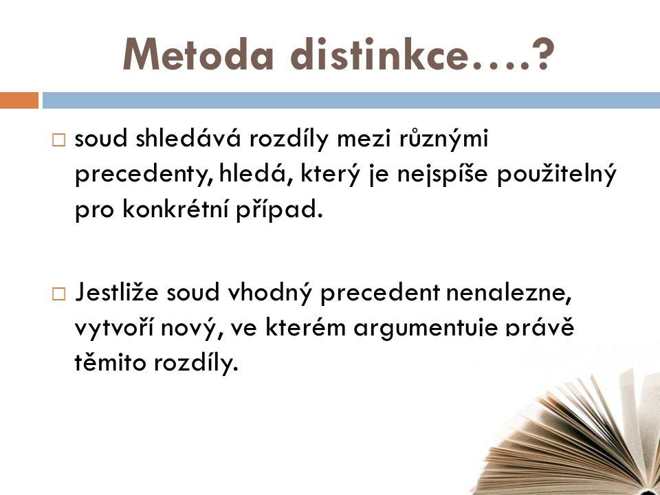 Metoda distinkce…..