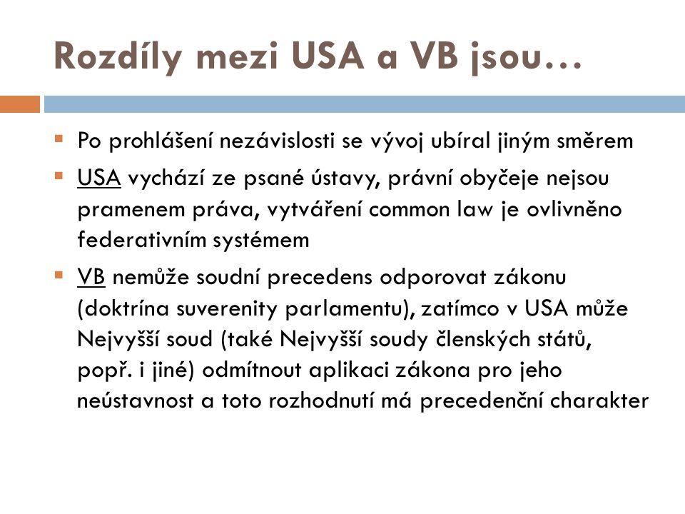 Ústava USA - Nejvyšší zákon - Má přednost i před mezinárodními smlouvami - Státy unie mají své vlastní ústavy - Obsahují listinu občanských práv