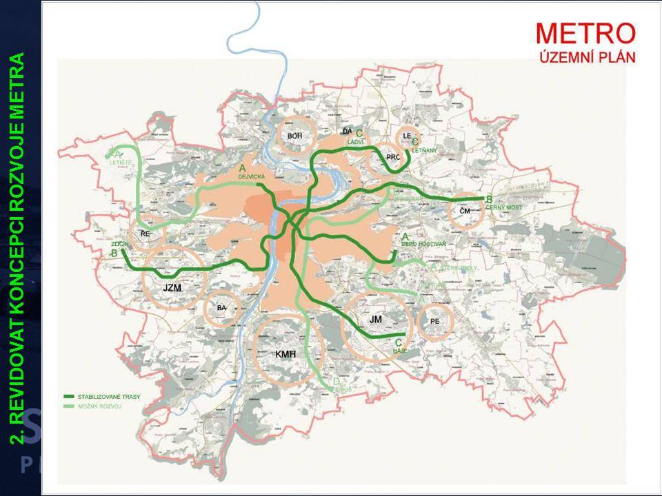 """PREZENTACE DUBEN 2004 – SENÁT """"průjezdný model"""" příměstské železnice 2. REVIDOVAT KONCEPCI ROZVOJE METRA"""