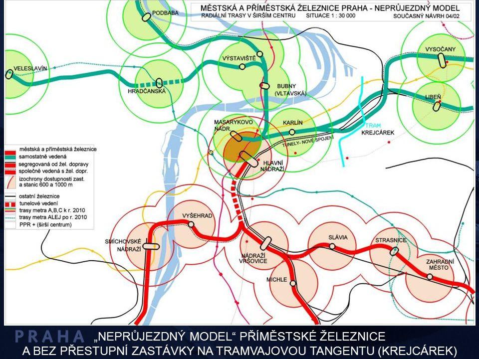 """PREZENTACE DUBEN 2004 – SENÁT """"NEPRŮJEZDNÝ MODEL"""" PŘÍMĚSTSKÉ ŽELEZNICE A BEZ PŘESTUPNÍ ZASTÁVKY NA TRAMVAJOVOU TANGENTU (KREJCÁREK)"""