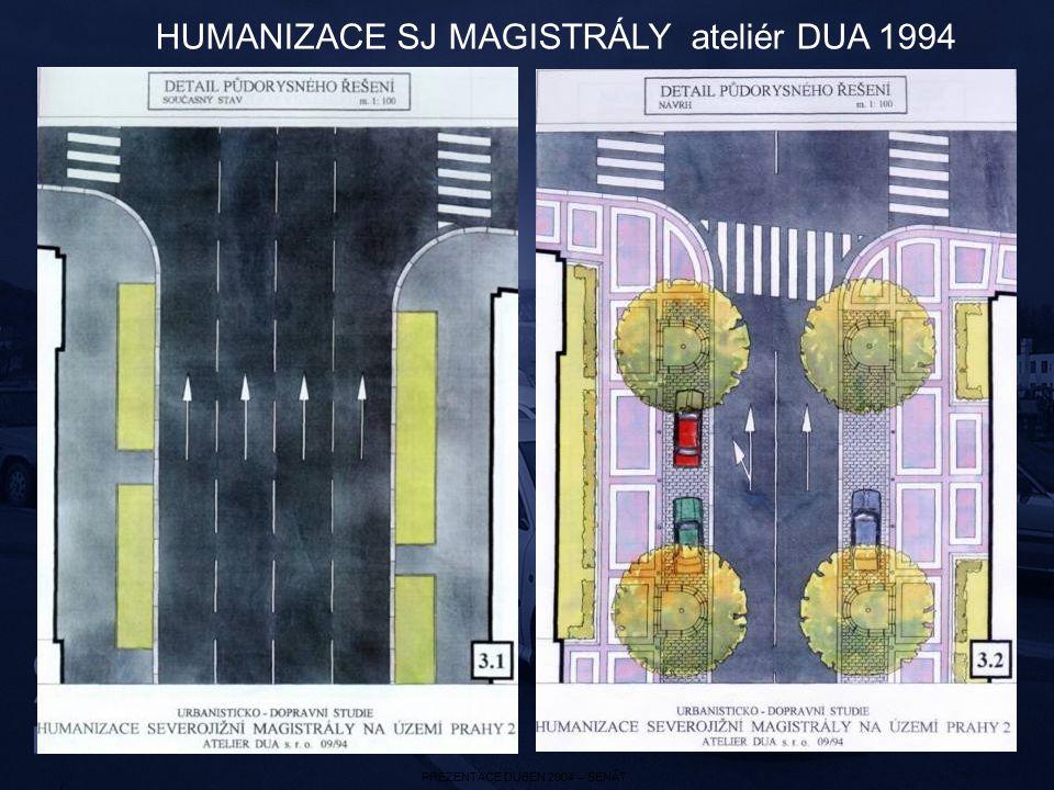 PREZENTACE DUBEN 2004 – SENÁT HUMANIZACE SJ MAGISTRÁLY ateliér DUA 1994