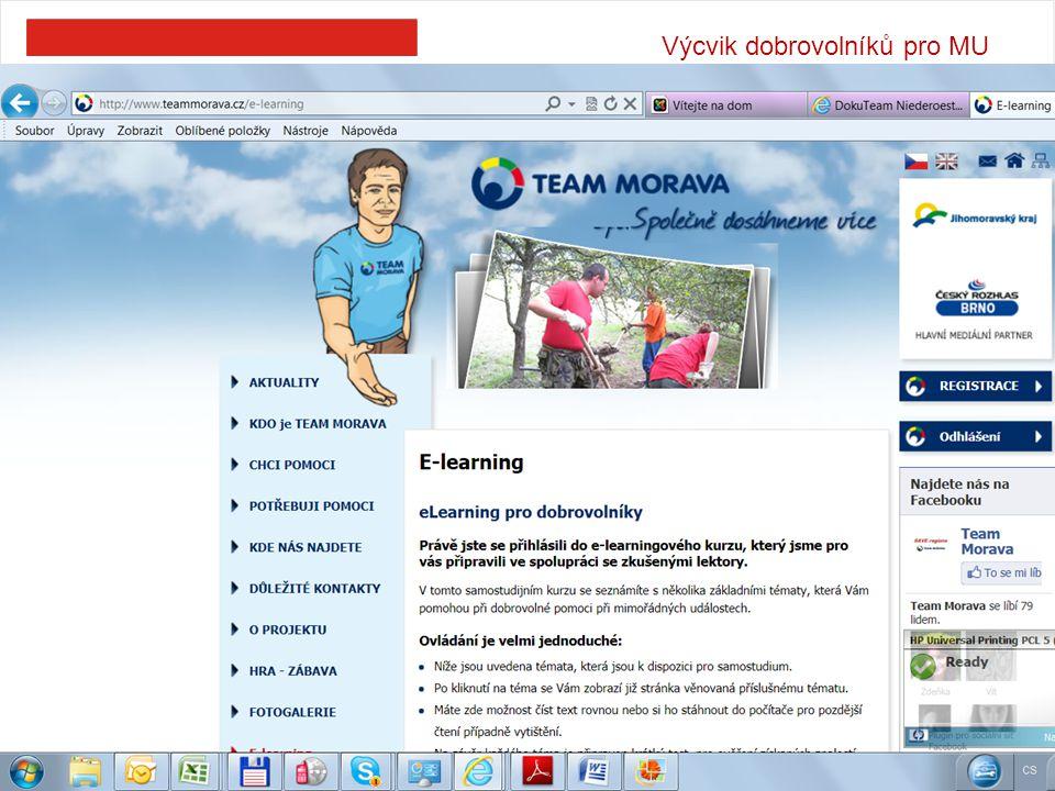 Výcvik dobrovolníků pro MU 7
