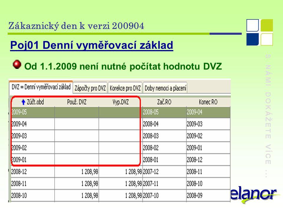 S NÁMI DOKÁŽETE VÍCE... Zákaznický den k verzi 200904 Vyp02 Statistika