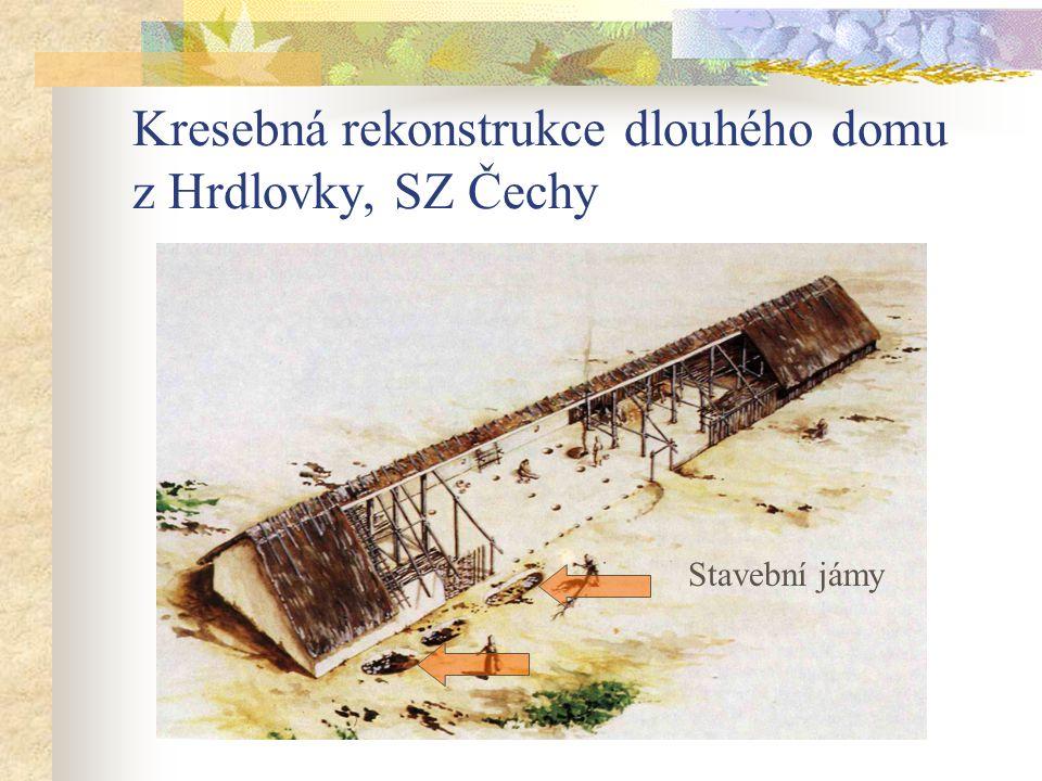 Kresebná rekonstrukce dlouhého domu z Hrdlovky, SZ Čechy Stavební jámy