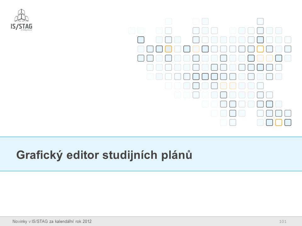 101 Novinky v IS/STAG za kalendářní rok 2012 Grafický editor studijních plánů