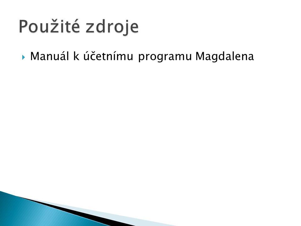  Manuál k účetnímu programu Magdalena