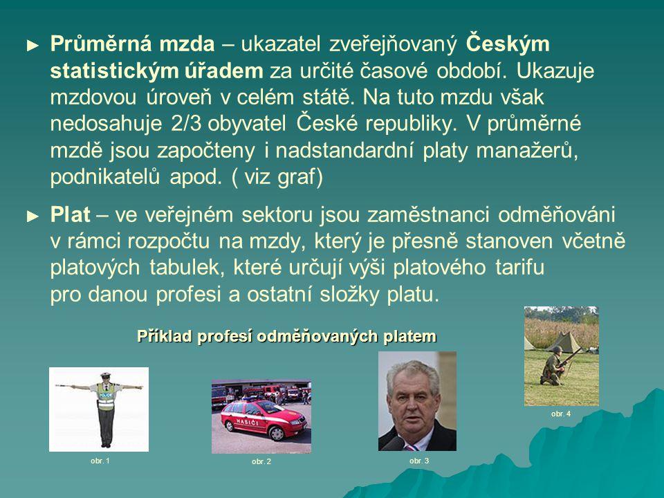 ► Průměrná mzda – ukazatel zveřejňovaný Českým statistickým úřadem za určité časové období.