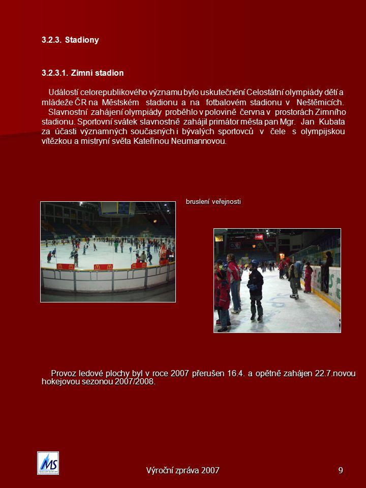 Výroční zpráva 20079 3.2.3.Stadiony 3.2.3.1.