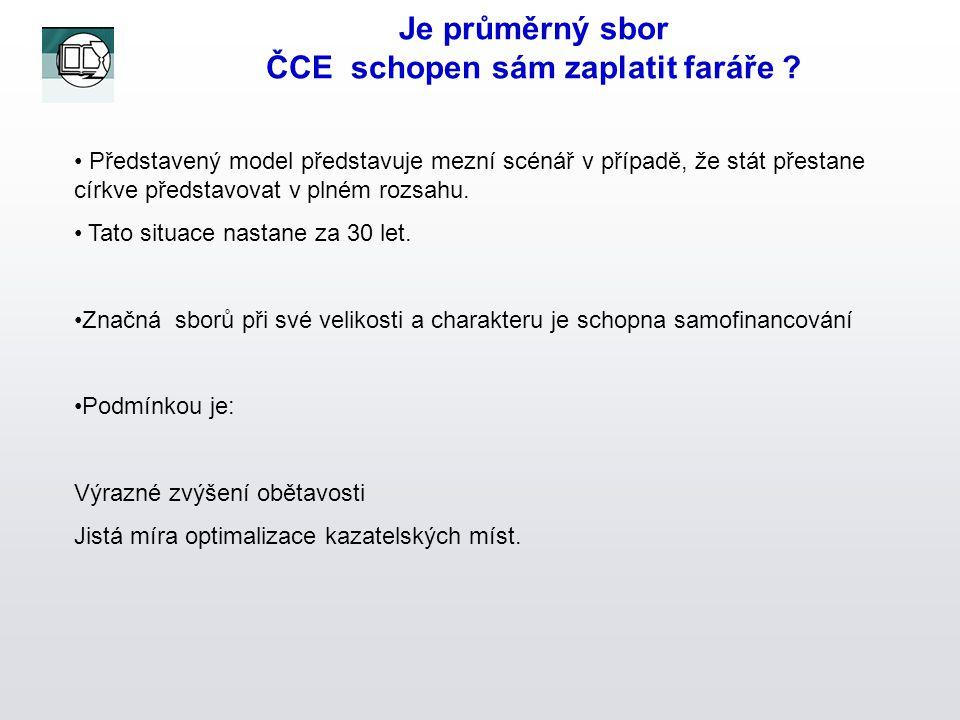 Je průměrný sbor ČCE schopen sám zaplatit faráře .