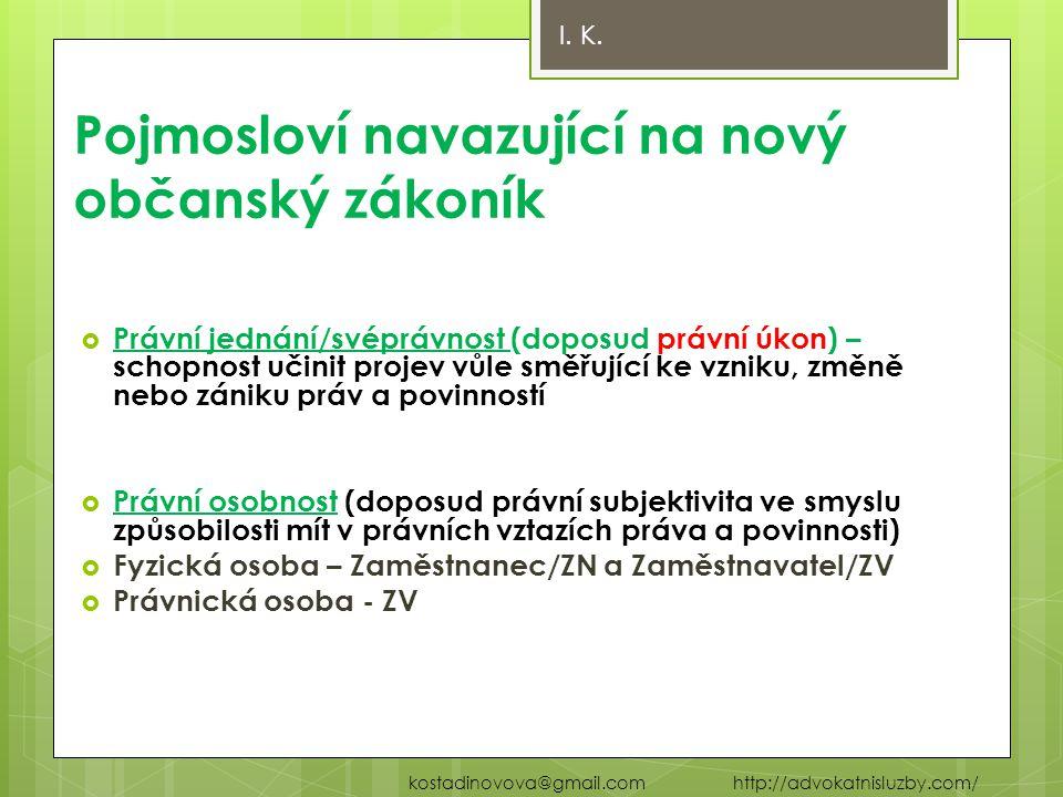 Základní zásady pracovněprávních vztahů  Nový odst.