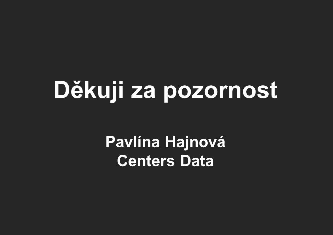 Děkuji za pozornost Pavlína Hajnová Centers Data
