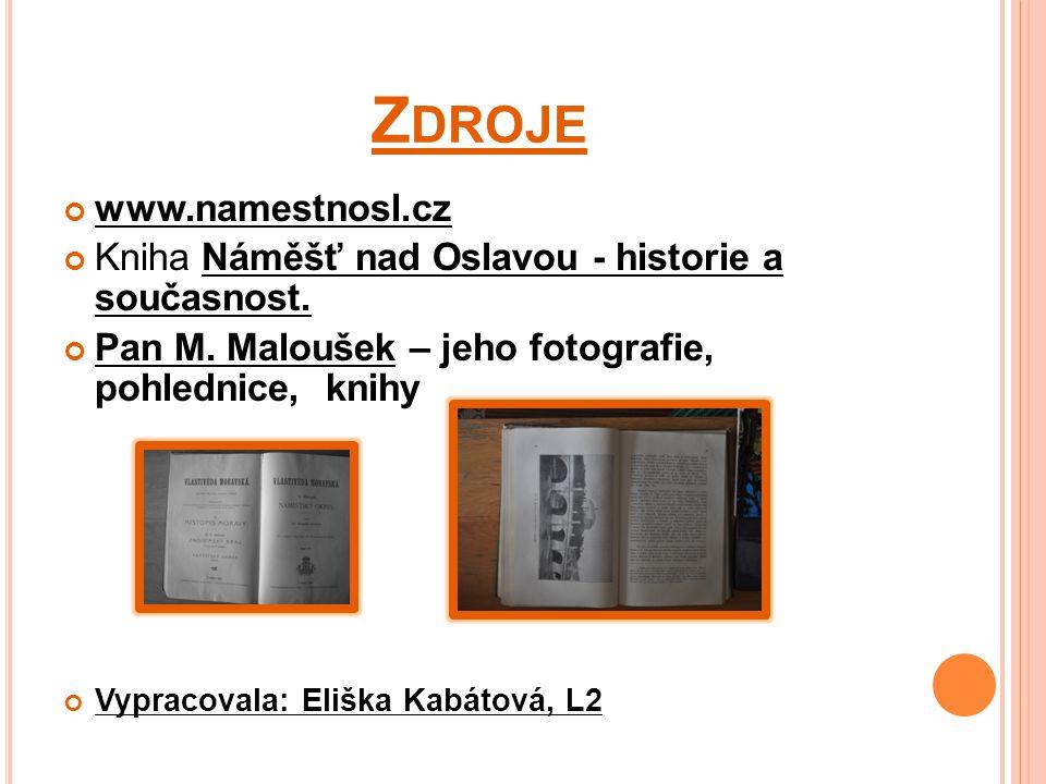 Z DROJE www.namestnosl.cz Kniha Náměšť nad Oslavou - historie a současnost.