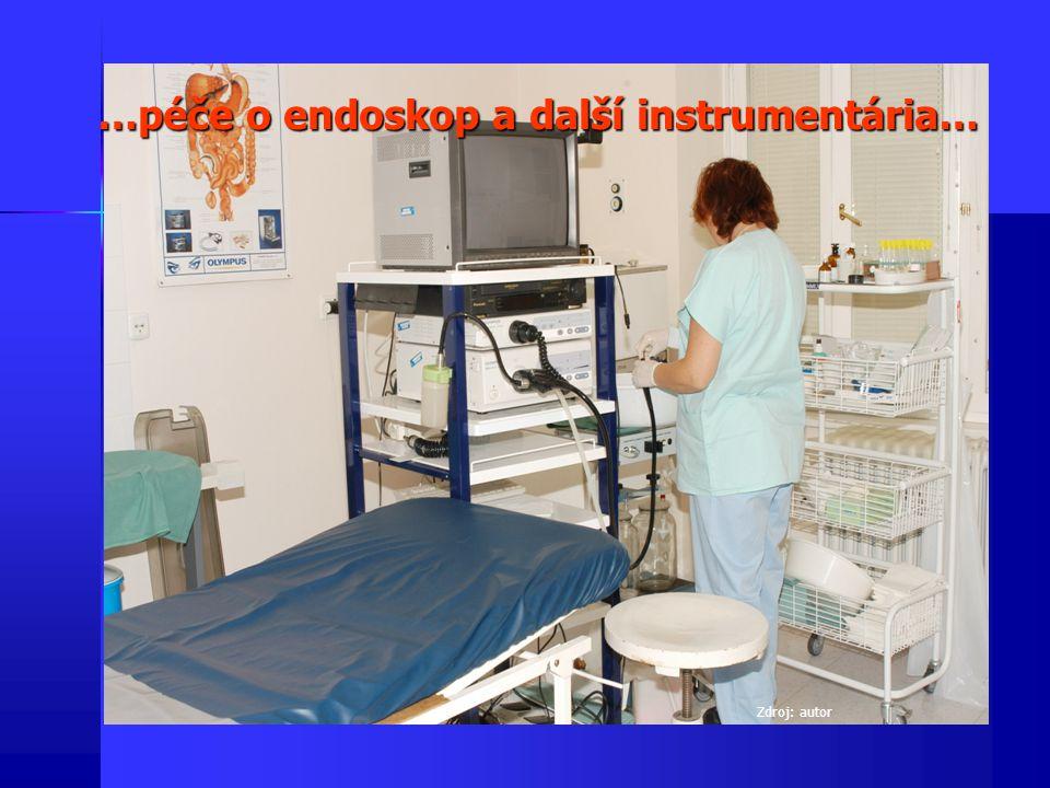…péče o endoskop a další instrumentária… Zdroj: autor