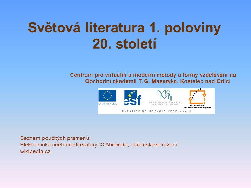 Světová literatura 1. poloviny 20.