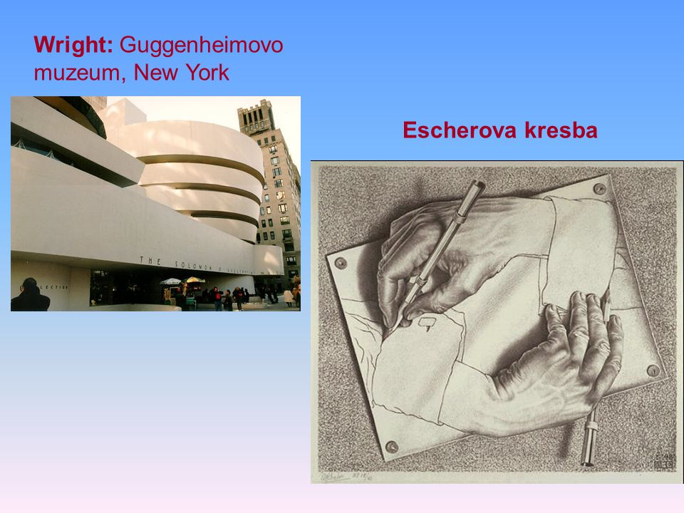 Wright: Guggenheimovo muzeum, New York Escherova kresba