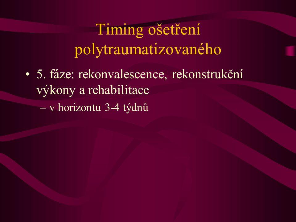 Timing ošetření polytraumatizovaného 5. fáze: rekonvalescence, rekonstrukční výkony a rehabilitace –v horizontu 3-4 týdnů