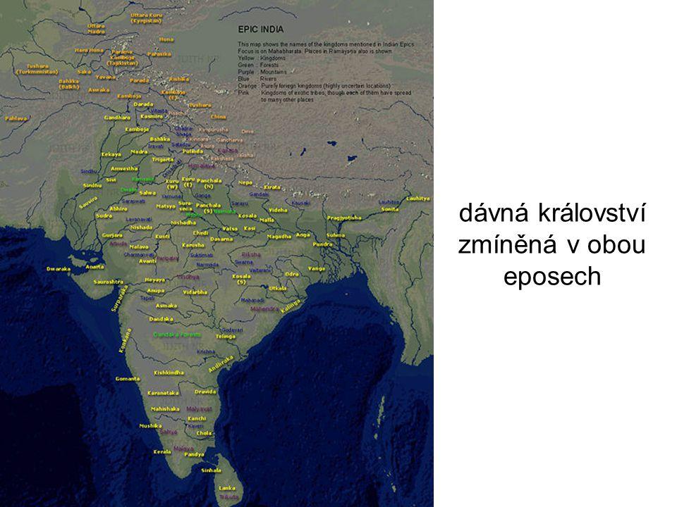 dávná království zmíněná v obou eposech