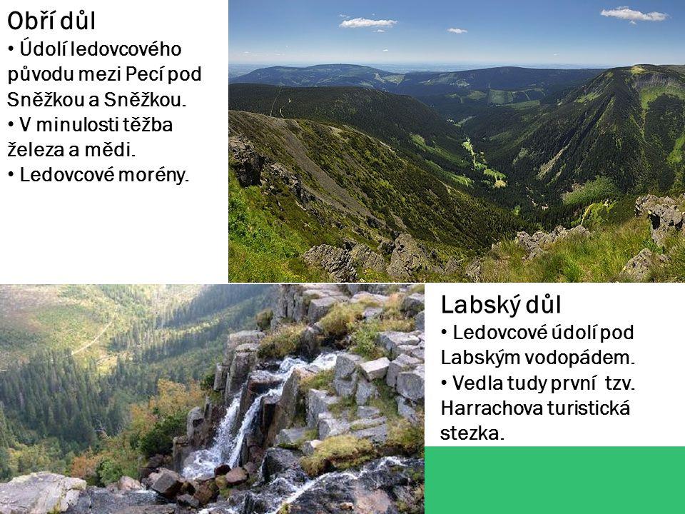 Sněžka (1602 m.n.m.) Nejvyšší hora České republiky, vrcholem prochází hranice s Polskem.