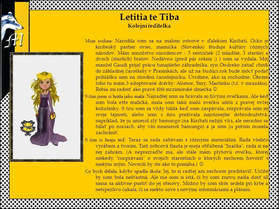 Letitia te Tiba Kolejní ředitelka Moje rodina: Narodila som sa na malom ostrove v ďalekom Kiribati.