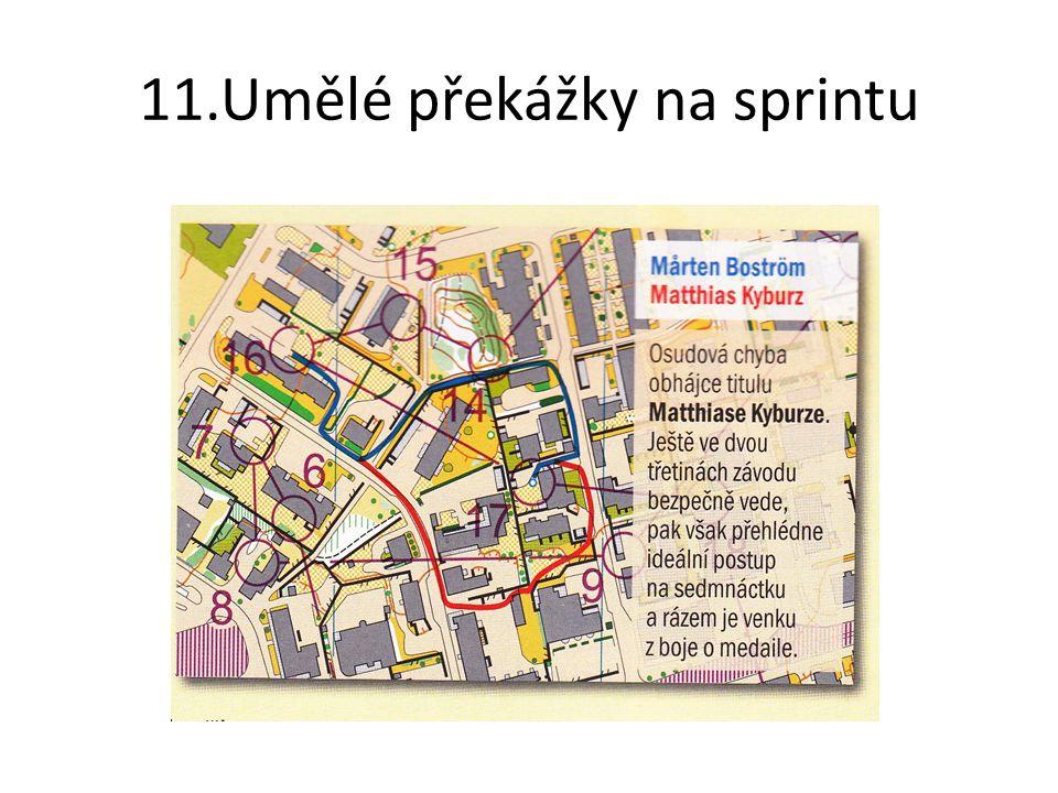 11.Umělé překážky na sprintu
