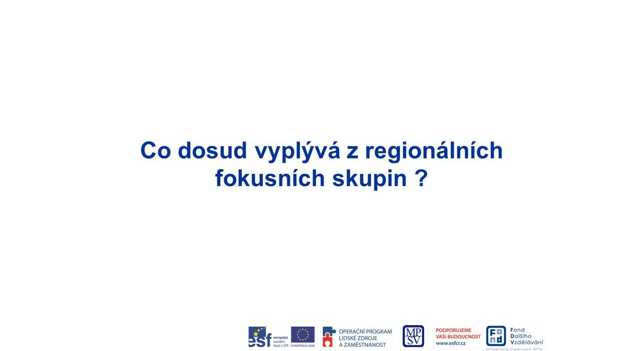 Co dosud vyplývá z regionálních fokusních skupin ?