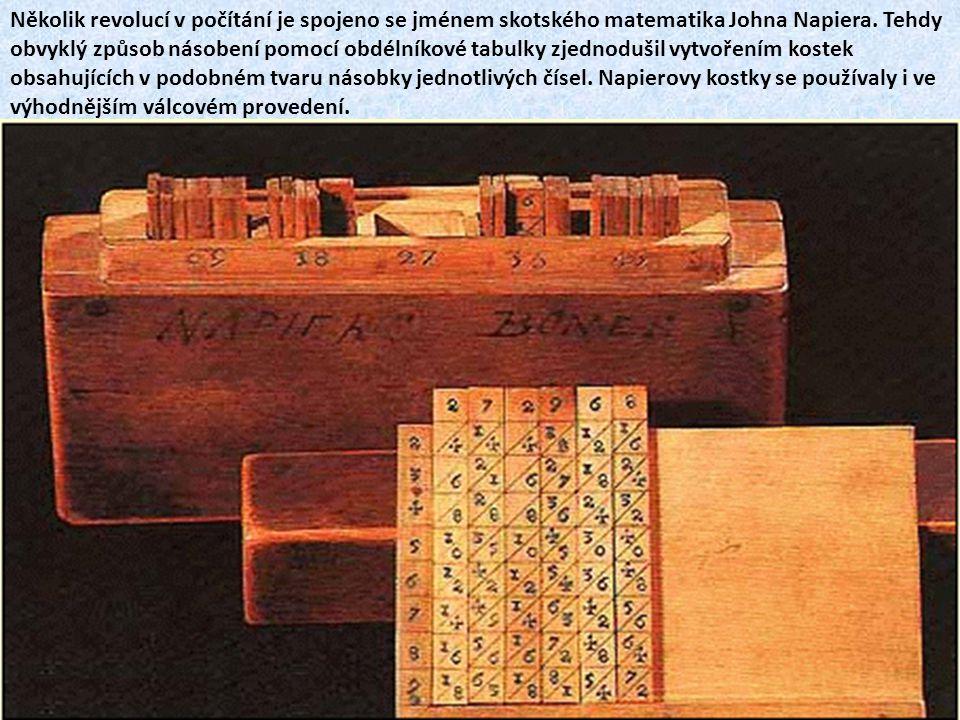 Mechanickou kalkulačku vynalezl v roce 1623 Wilhelm Schickard.