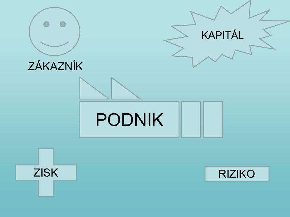 ZISK RIZIKO PODNIK KAPITÁL ZÁKAZNÍK