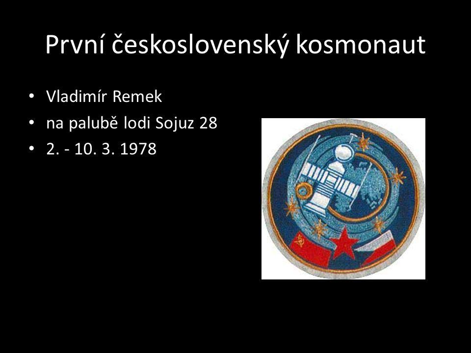 První československý kosmonaut Vladimír Remek na palubě lodi Sojuz 28 2. - 10. 3. 1978