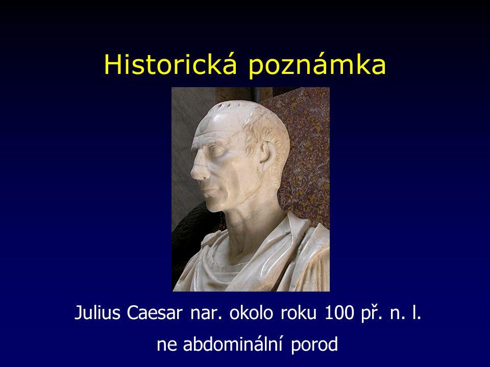 První Caesar buď: zabil v bitvě během punských válek slona (caesai), nebo caedo – vražditi, bíti, sekati nebo sanskrt,dlouhá splývavá kštice po porodu (caesaris), případně jasně šedé oči (oculis caesiis)